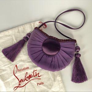 Authentic Christian Louboutin Satin Tassel Bag